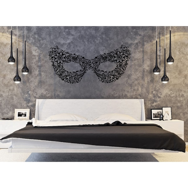Flower mask masquerade Wall Art Sticker Decal