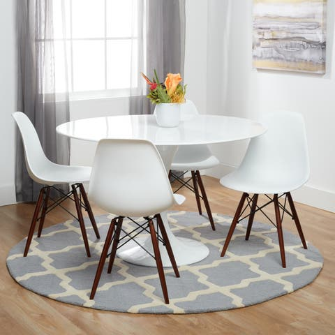 Poly And Bark Vortex Dining Chair With Walnut Legs Set Of 4