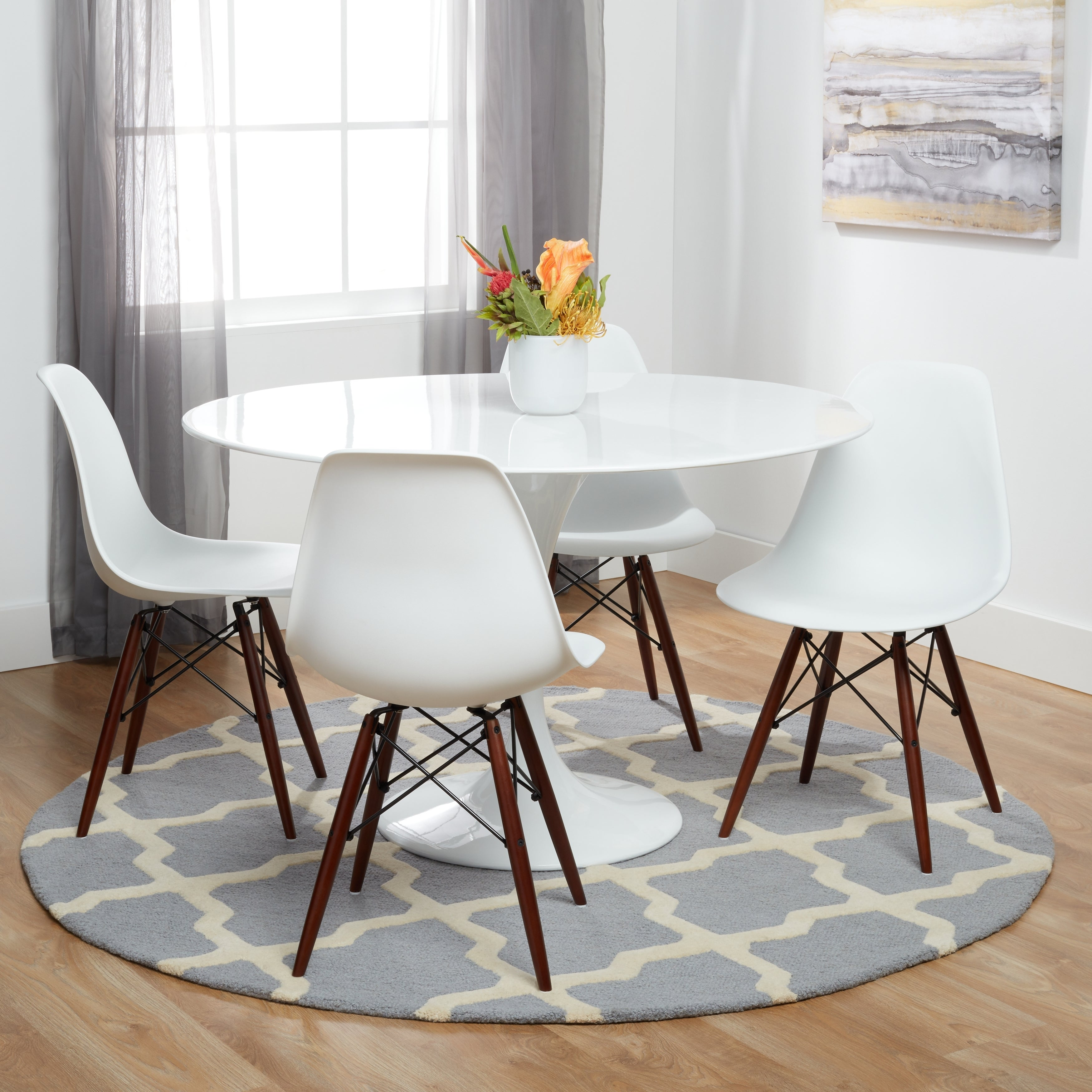 Poly and Bark Vortex Dining Chair with Walnut Legs (Set of 4)  sc 1 st  Overstock.com & Buy Set of 4 Kitchen u0026 Dining Room Chairs Online at Overstock.com ...