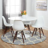 Poly and Bark Vortex Dining Chair with Walnut Legs (Set of 4)