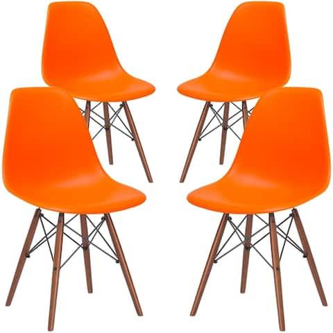 Edgemod Vortex Dining Chair with Walnut Legs (Set of 4)