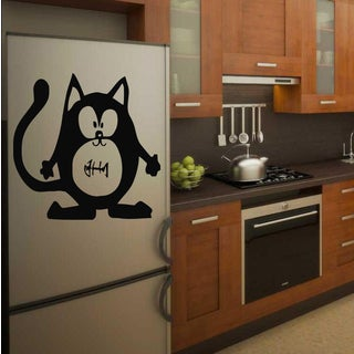 Funny cat with fish Wall Art Sticker Decal
