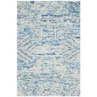 Safavieh Handmade Chatham Blue/ Ivory Wool Rug - 2' x 3'