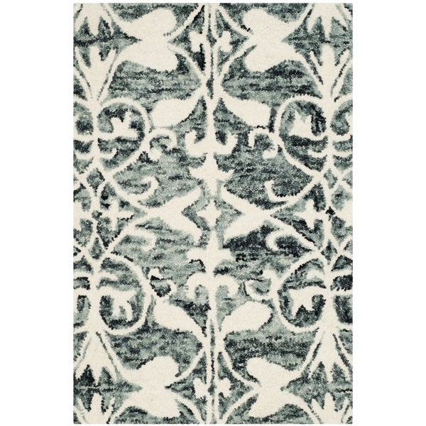 Safavieh Handmade Chatham Charcoal/ Ivory Wool Rug - 2' x 3'