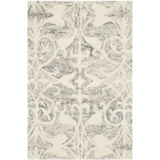 Safavieh Handmade Chatham Light Grey/ Ivory Wool Rug (2' x 3')
