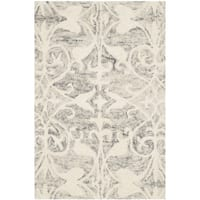 Safavieh Handmade Chatham Light Grey/ Ivory Wool Rug - 2' X 3'