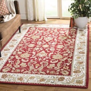 Safavieh Hand-hooked Easy to Care Red/ Ivory Rug (2' x 3')