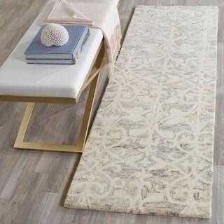 Safavieh Handmade Chatham Light Grey/ Ivory Wool Rug (2' 3 x 7')