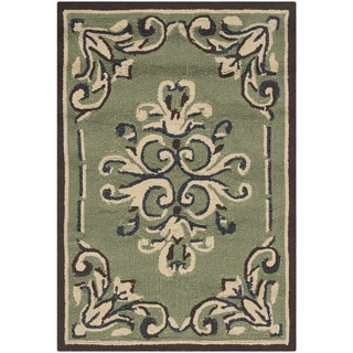 Safavieh Hand-hooked Easy to Care Sage/ Multi Rug (2' x 3')