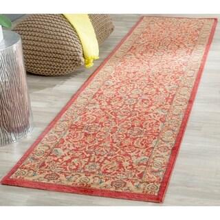 Safavieh Mahal Traditional Grandeur Red/ Natural Rug (2' 2 x 12')