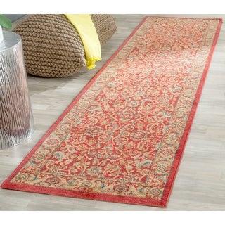Safavieh Mahal Traditional Grandeur Red/ Natural Rug (2' 2 x 14')
