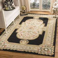 Safavieh Hand-hooked Easy to Care Navy/ Ivory Rug - 2' X 3'