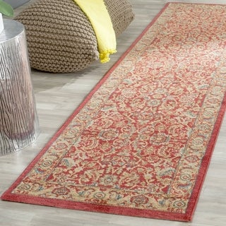 Safavieh Mahal Traditional Grandeur Red/ Natural Rug (2' 2 x 22')