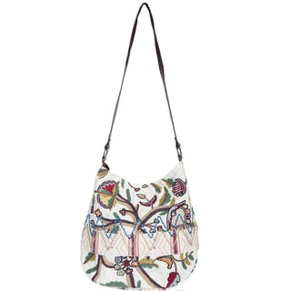 Scully Multicolored Embroidered Cross-body Tote Bag
