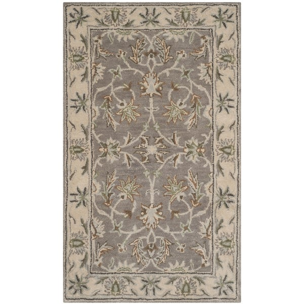 Shop Safavieh Handmade Heritage Timeless Traditional Grey Beige Wool Rug 2 X 3