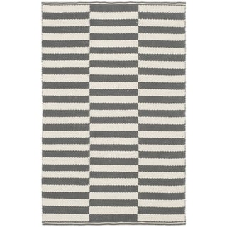 Safavieh Hand-Woven Montauk Ivory/ Grey Cotton Rug (2' 6 x 4')