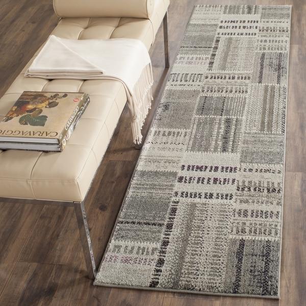 Safavieh Monaco Patchwork Grey / Multicolored Rug (2' 2 x 8')