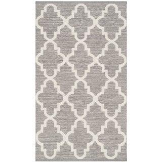 Safavieh Hand-Woven Montauk Grey/ Ivory Cotton Rug (2' 6 x 4')