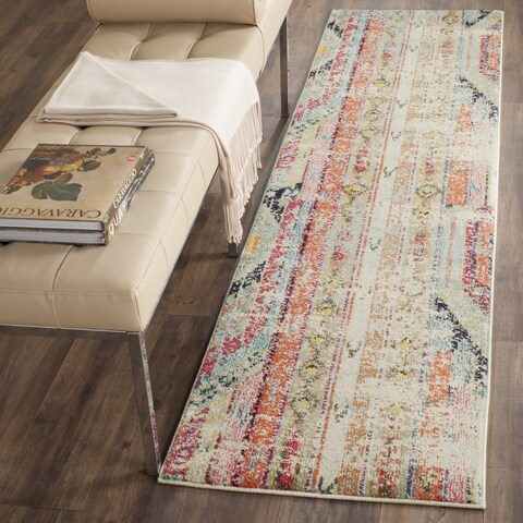 The Curated Nomad Bernal Vintage Bohemian Distressed Runner Rug - 2'2 x 8'