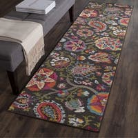 "Safavieh Monaco Floral Brown/ Multicolored Runner - 2'2"" x 12'"