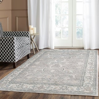 Safavieh Valencia Mauve/ Cream Distressed Silky Polyester Runner (2'3 x 6')