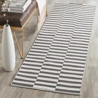 Safavieh Hand-Woven Montauk Ivory/ Grey Cotton Rug - 2' 3 x 11' 7
