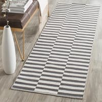 Safavieh Hand-Woven Montauk Ivory/ Grey Cotton Rug - 2' 3 x 9'