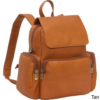 LeDonne Leather Womens Multi Pocket Backpack