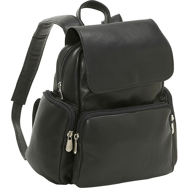 dd35d5a6e1501 Shop LeDonne Leather Womens Multi Pocket Backpack - On Sale - Free ...