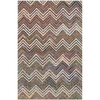 Safavieh Handmade Nantucket Abstract Chevron Beige/ Grey Cotton Rug - 2' x 3'