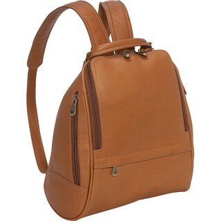 LeDonne Leather U-Zip Mid Size Women's Backpack (Option: Beige)