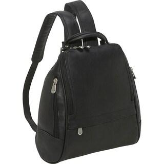 LeDonne Leather U-Zip Mid Size Women's Backpack (Option: Black)