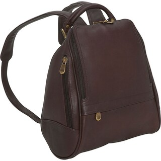 LeDonne Leather U-Zip Mid Size Women's Backpack (Option: Brown)
