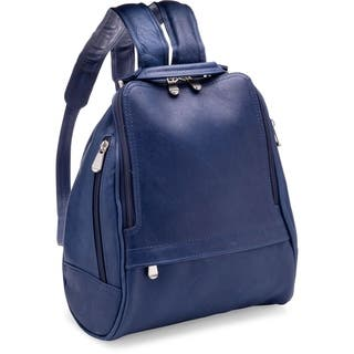 LeDonne Leather U-Zip Mid Size Women's Backpack|https://ak1.ostkcdn.com/images/products/11727814/P18647243.jpg?impolicy=medium