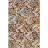 Safavieh Handmade Nantucket Modern Abstract Beige/ Brown Cotton Rug - 2' X 3'