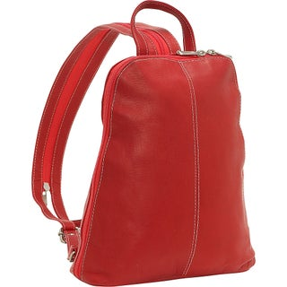 LeDonne Leather U-Zip Womans Sling/ Backpack (Option: Red)
