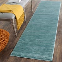 "Safavieh Vision Contemporary Tonal Aqua Blue Area Rug - 2'2"" x 6' Runner"