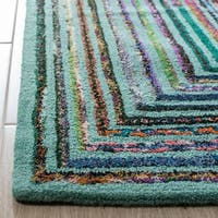 Safavieh Handmade Nantucket Teal Cotton Rug (2' x 3')