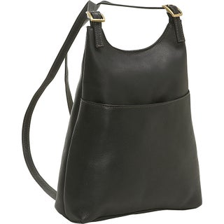 LeDonne Leather Women's Slim Sling Backpack (Option: Black)