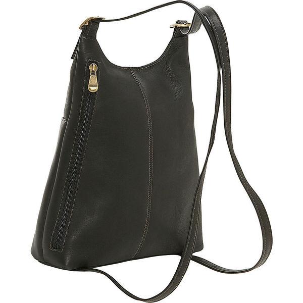 84fb7ff963 Shop LeDonne Leather Women s Slim Sling Backpack - On Sale - Free ...