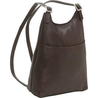 LeDonne Leather Women's Slim Sling Backpack|https://ak1.ostkcdn.com/images/products/11727840/P18647245.jpg?impolicy=medium