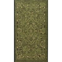 Safavieh Palazzo Black/ Cream/ Dark Green Oriental Area Rug - 2' x 3'6