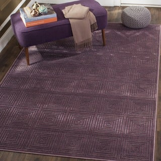 Safavieh Paradise Modern Purple/ Multicolored Viscose Rug (2' 7 x 4')