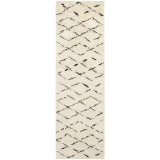 Safavieh Handmade Casablanca Ivory/ Brown Wool Rug (2' 3 x 12')