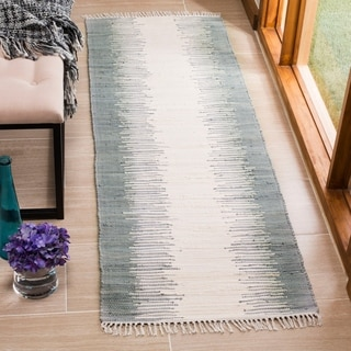 Safavieh Hand-Woven Montauk Grey Cotton Rug (2' 3 x 13')