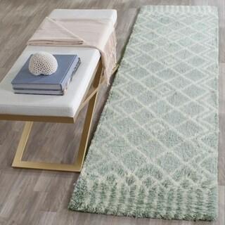 Safavieh Handmade Casablanca Blue/ Ivory Wool Rug (2' 3 x 8')