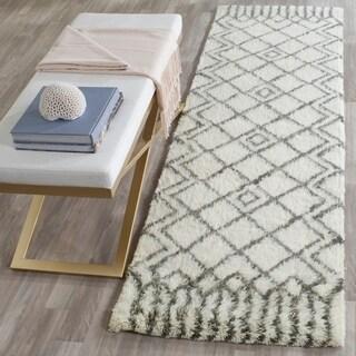 Safavieh Handmade Casablanca Ivory/ Grey Wool Rug (2' 3 x 8')