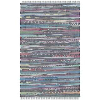Safavieh Hand-Woven Rag Rug Aqua/ Multi Cotton Rug (2' x 3')