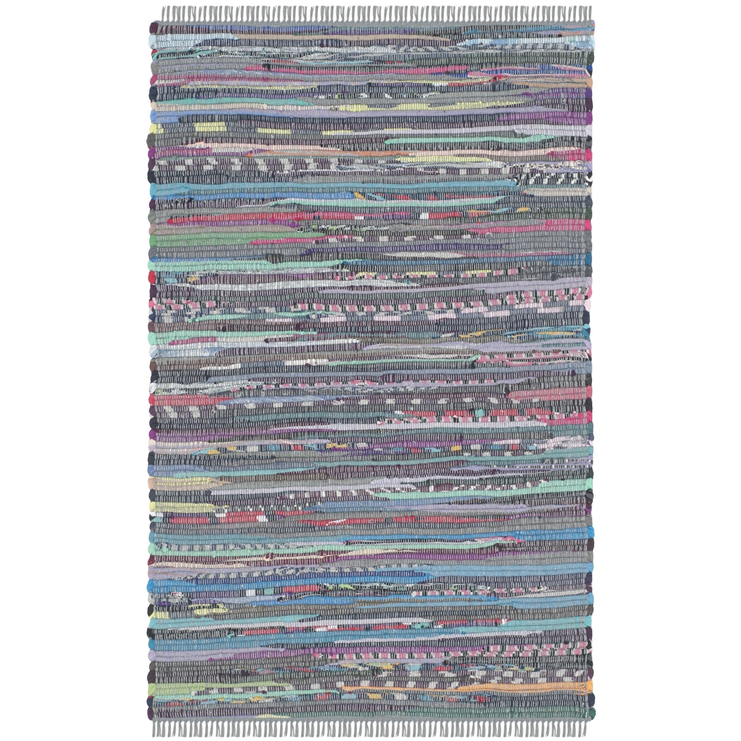 Safavieh Hand-Woven Rag Rug Aqua/ Multi Cotton Rug