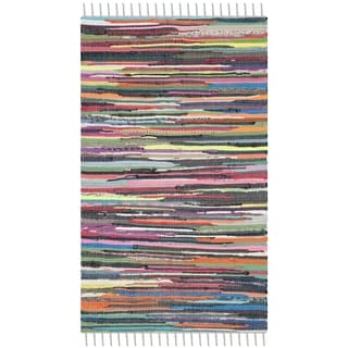 Safavieh Hand-Woven Rag Rug Grey/ Multi Cotton Rug (2' x 3')